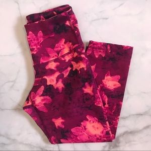 Old Navy Capri compression leggings XS flowered